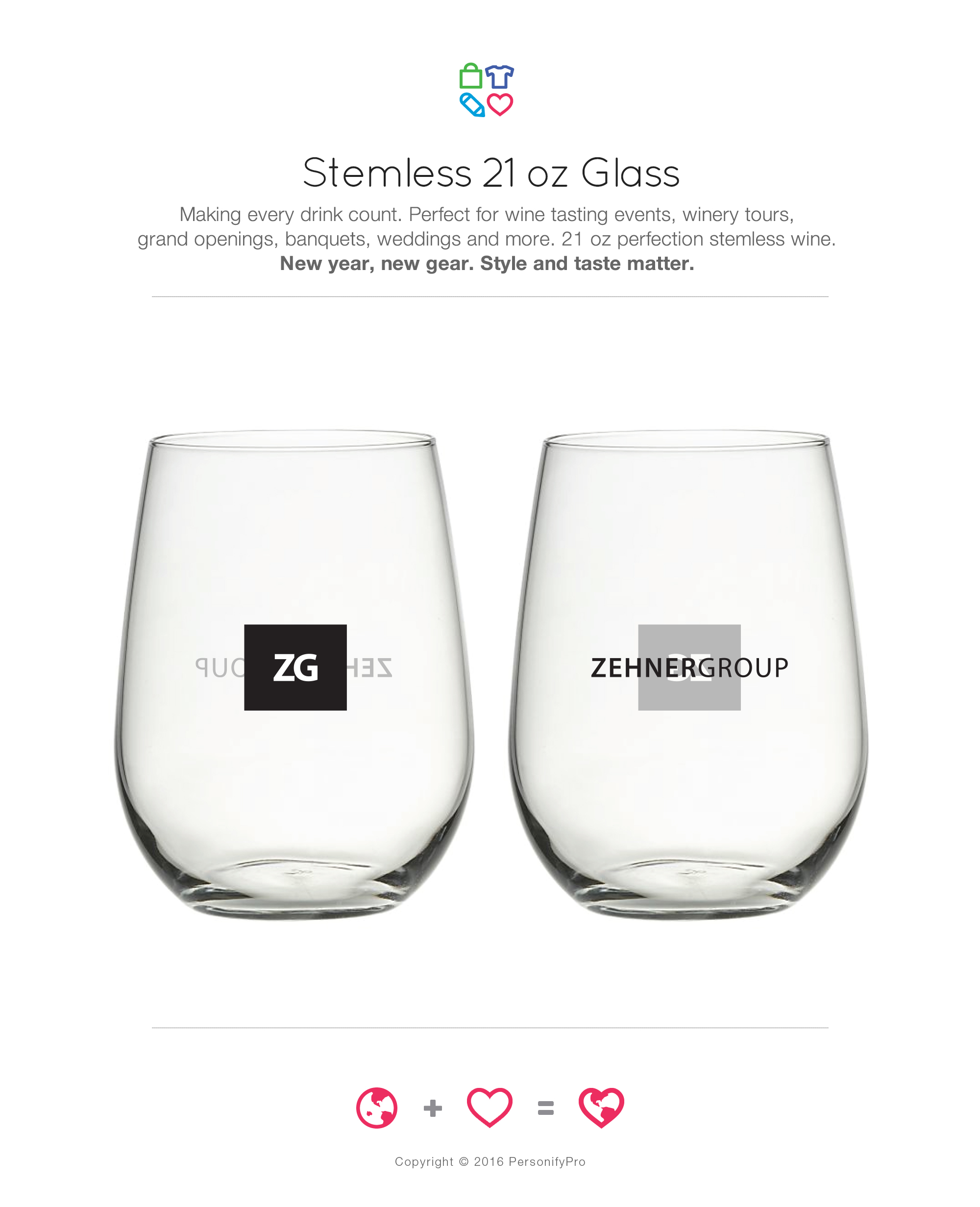 Stemless 21 oz Glass